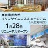 クジラなどの海洋生物の標本やはく製を集めた 東京海洋大学マリンサイエンスミュージアム 2016年1月28日開館