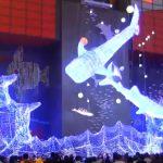 全長約11mのジンベエザメ2匹のイルミネーションや点灯式 2016年大阪 海遊館